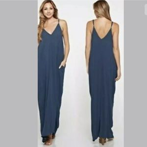 Lovestitch blue loose cocoon long maxi dress S/M